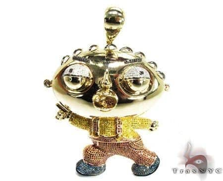 Custom jewelry diamond stewie pendant mens diamond pendant mens diamond jewelry mens pendants metal custom jewelry diamond stewie pendant aloadofball Choice Image