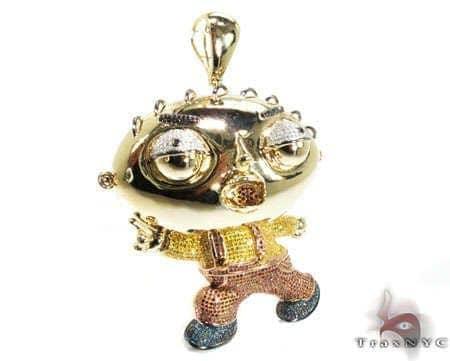 Custom jewelry diamond stewie pendant mens diamond pendant yellow custom jewelry diamond stewie pendant mens diamond pendant yellow gold 10k round cut 655 ct aloadofball Choice Image
