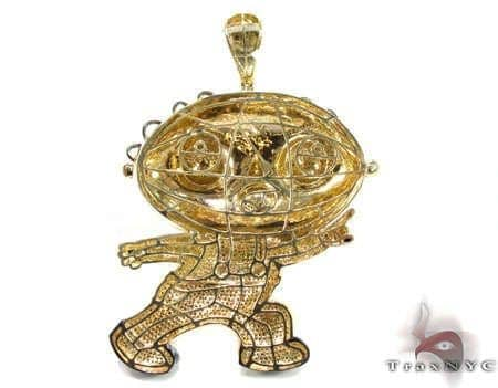 Custom jewelry diamond stewie pendant mens diamond pendant yellow mens diamond jewelry mens pendants metal custom jewelry diamond stewie pendant aloadofball Images