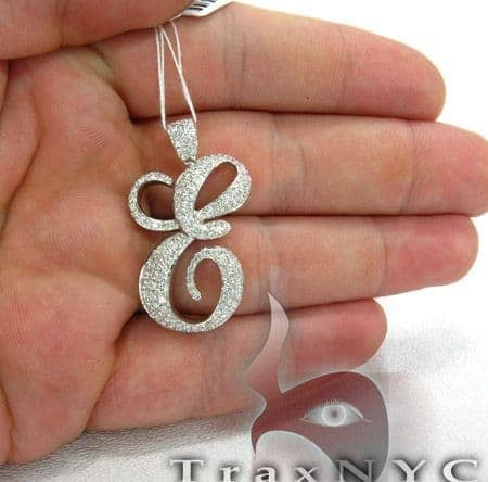 Initial e pendant ladies style white gold 14k round cut 175 ct mens diamond jewelry mens pendants metal initial e pendant aloadofball Choice Image