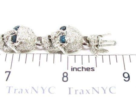 Custom Jewelry - Diamond Skull Bracelet Mens Diamond