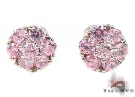 Womens Jewelry Unique Earrings Stone Pink Diamond Cer