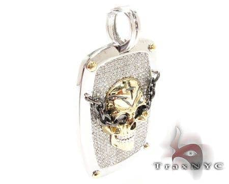 Skull Dog Tag Available in Yellow Gold Frame only Metal