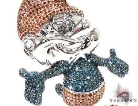 Papa smurf pendant mens metal white gold 10k round cut 355 ct mens diamond jewelry mens pendants metal papa smurf pendant aloadofball Images