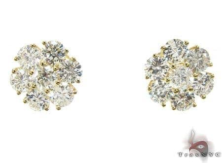 YG Cluster Earrings Stone