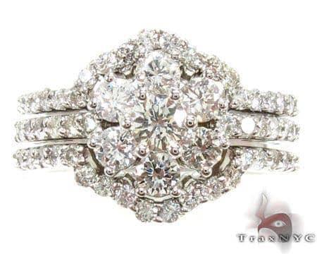 Sunflower Diamond Ring Set Engagement