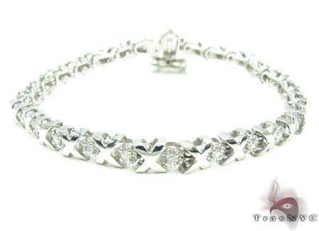 Womens Jewelry Unique Bracelets Diamond White Gold Xo Bracelet