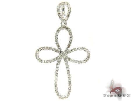 Sterling Silver & Diamond Delicate Cross Style