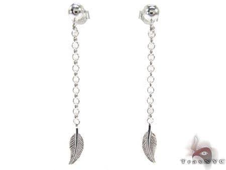 Leaf Sterling Silver Earrings Metal
