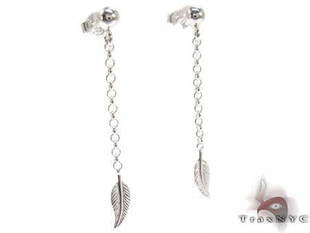 Leaf Sterling Silver Earrings Metal