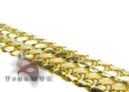 10K Solid Yellow Gold Miami Chain 26 Inches 8mm 118.8 Grams Gold