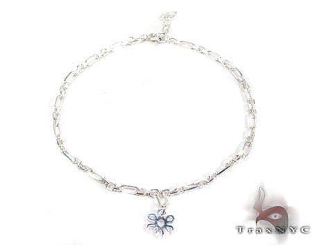Ladies Silver Bracelet 19610 Silver & Stainless Steel