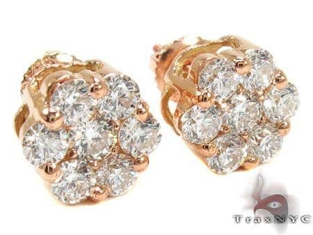 Rose Gold VS Floweret Studs Stone
