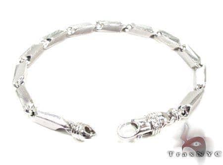Mens Sterling Silver Bracelet 20128 Mens Silver Sterling Silver