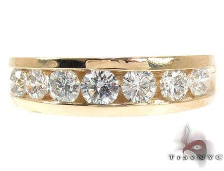 Mens Yellow Gold Channel Diamond Ring 20820 Style