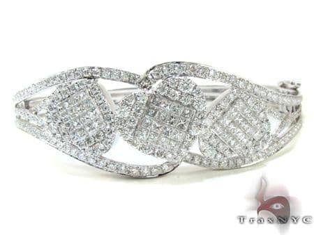 Ladies White Gold Heart Diamond Bracelet 21122 Diamond