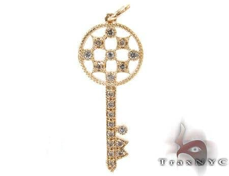 Ladies Diamond Key Pendant 21196 Style