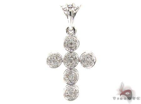 Ladies Prong Diamond Cross 21536 Style