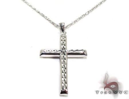 Mens Cross Pendant 21551 Gold
