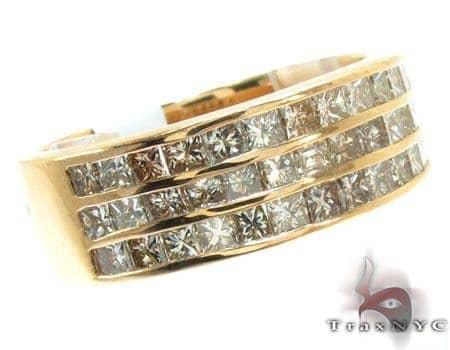 3 Row Princess Cut Diamond Ring Stone