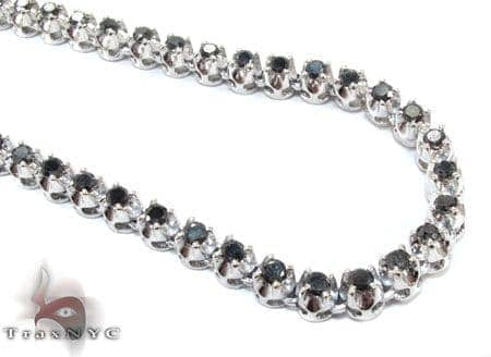 White Gold Black Diamond Chain 20 Inches 5mm 38.7 Grams Diamond