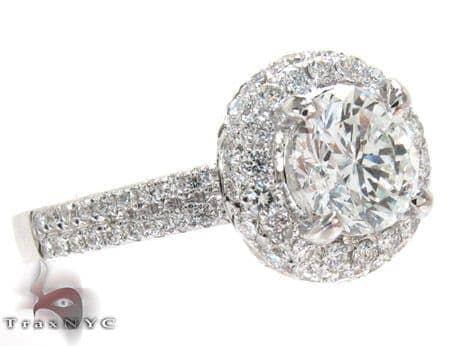 White Gold Round Cut Prong Diamond Wedding Ring Engagement