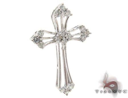 Ladies Prong Diamond Cross 21204 Style