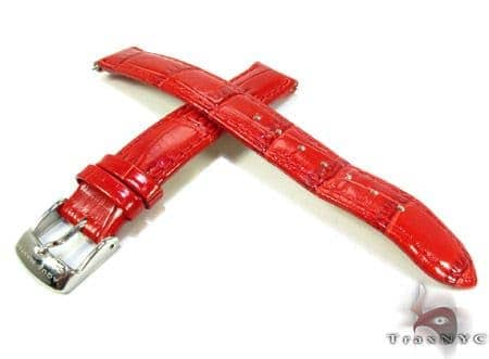 Aqua Master Red Leather Band 14mm Watch Accessories