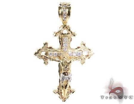 Yellow 10k gold cz jesus cross crucifix pendant 25314 mens gold mens diamond jewelry mens crosses mens gold crosses yellow 10k gold cz jesus cross crucifix pendant 25314 aloadofball Image collections