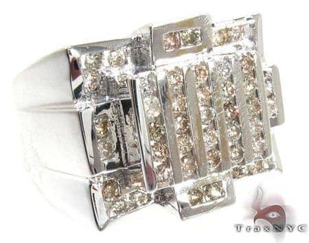 Silver Diamond Crown Ring Metal