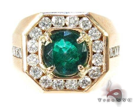 Mens Godfather Emerald Ring Stone