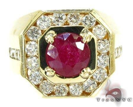 Mens Godfather Ruby Ring Stone