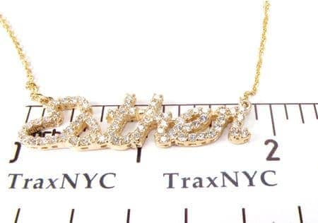 diamond personalized name necklace