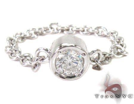 Bezel Diamond Chain Ring 27074 Engagement