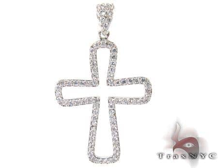 White Gold Diamond Cross 27111 Style