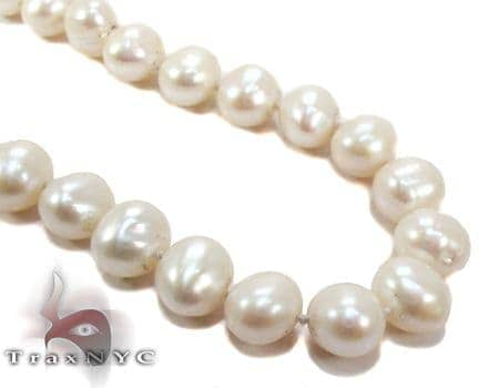 White Pearl Long Necklace Pearl