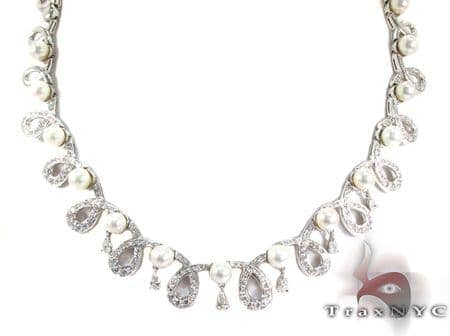 Cerenade Pearl Diamond Necklace Diamond