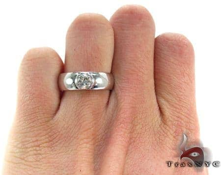 Mens White Gold Gay Wedding Ring Mens White Gold Diamond Wedding Ring Round Cut 0 80 Ct