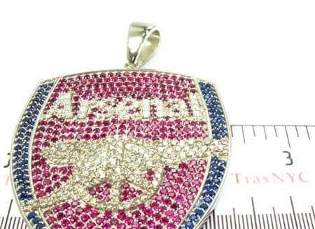 Custom silver cz arsenal pendant mens metal 925 silver mens diamond jewelry mens pendants metal custom silver cz arsenal pendant aloadofball Image collections