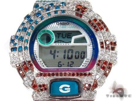 G-Shock G-Lide Classic Watch GLX6900-7 with American Flag Case G-Shock