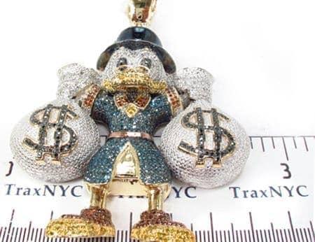 Custom jewelry scrooge mcduck blue diamond pendant mens diamond mens diamond jewelry mens pendants metal custom jewelry scrooge mcduck blue diamond pendant aloadofball Images