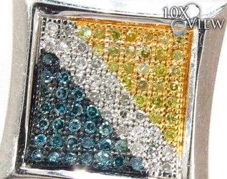 Hip Hop Jewelry - Canary & Blue Single Earring Style