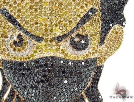 Custom Jewelry - Diamond Boondocks Ninja Pendant 32024 Metal