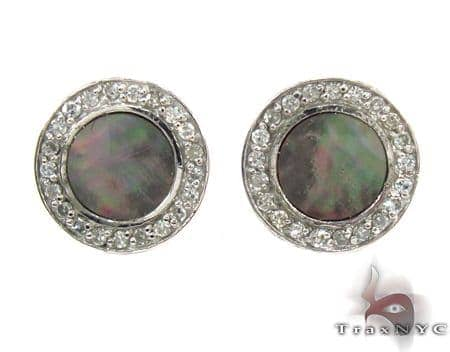 Mother of Pearl Earrings 32212 Stone