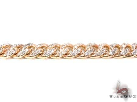 10K Gold Diamond Miami Link Chain 28 Inches 8mm 123.7 Grams Diamond