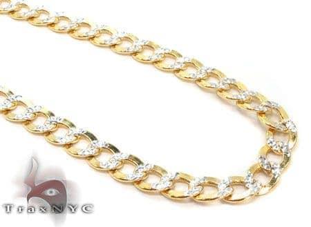 10k Gold Diamond Cut Cuban Link Chain 24 Inches 3.5mm 5.5 Grams Gold
