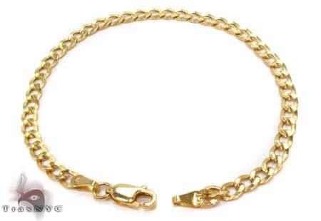 10K Gold Cuban Bracelet 33034 Gold