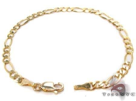 10K Gold Figaro Bracelet 33202 Gold