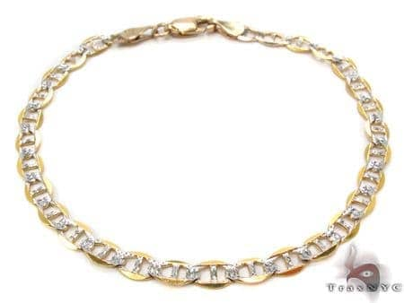 10K Gold Anchor Diamond Cut Bracelet 33204 Gold