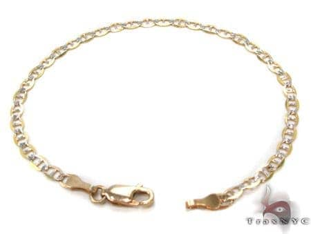 10K Gold Anchor Diamond Cut Bracelet 33205 Gold